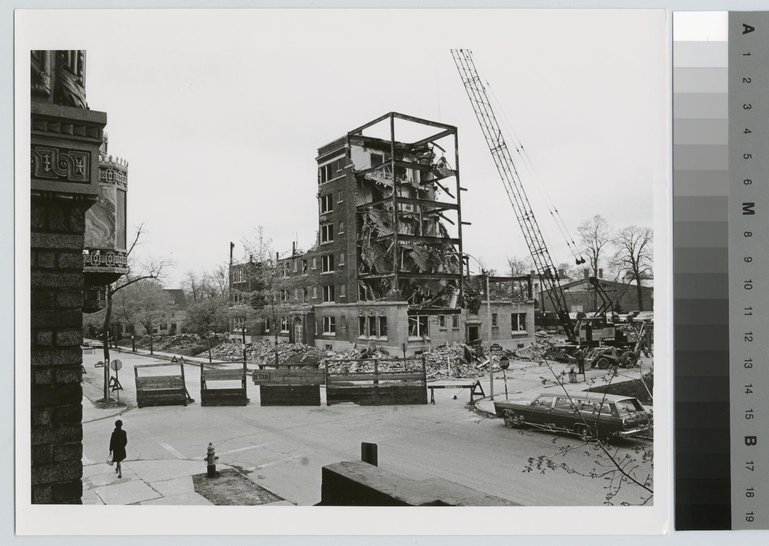 Demolition, Kate Gleason Hall, Rochester Institute of Technology