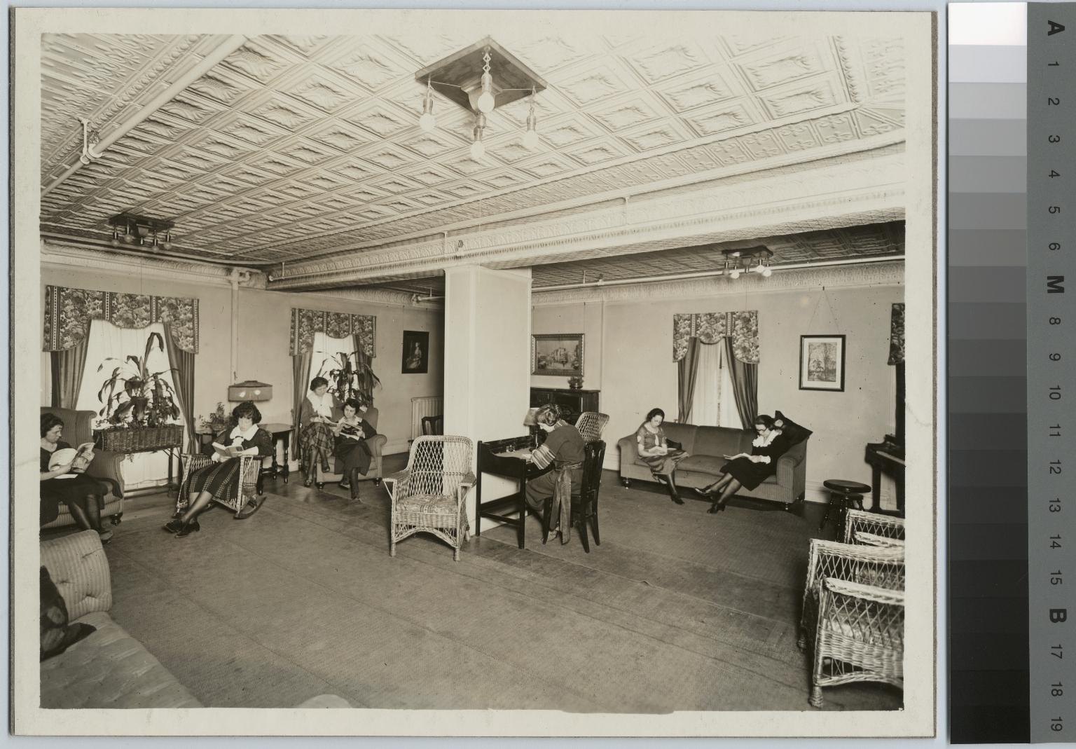 Student Reception Room. Jenkinson Apartments. Rochester Athenaeum and Mechanics Institute