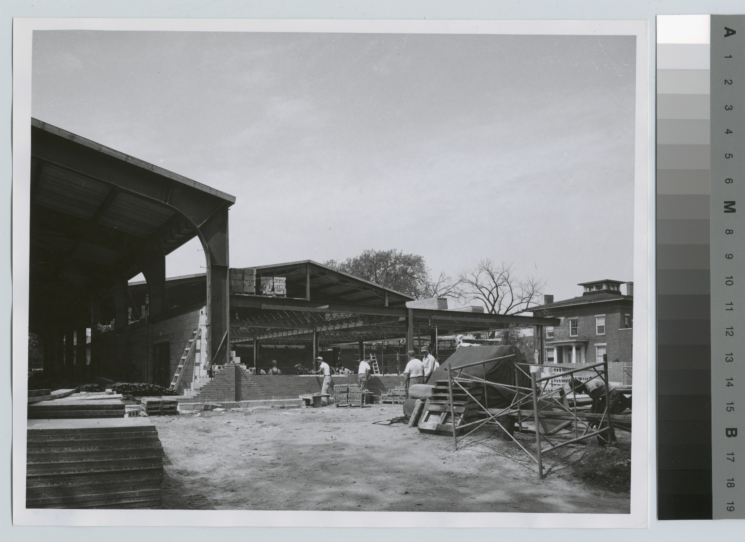 Construction of RIT's gymnasium and ice arena on the downtown Rochester NY campus, Ritter-Clark Memorial Building and Ice Arena, Rochester Institute of Technology