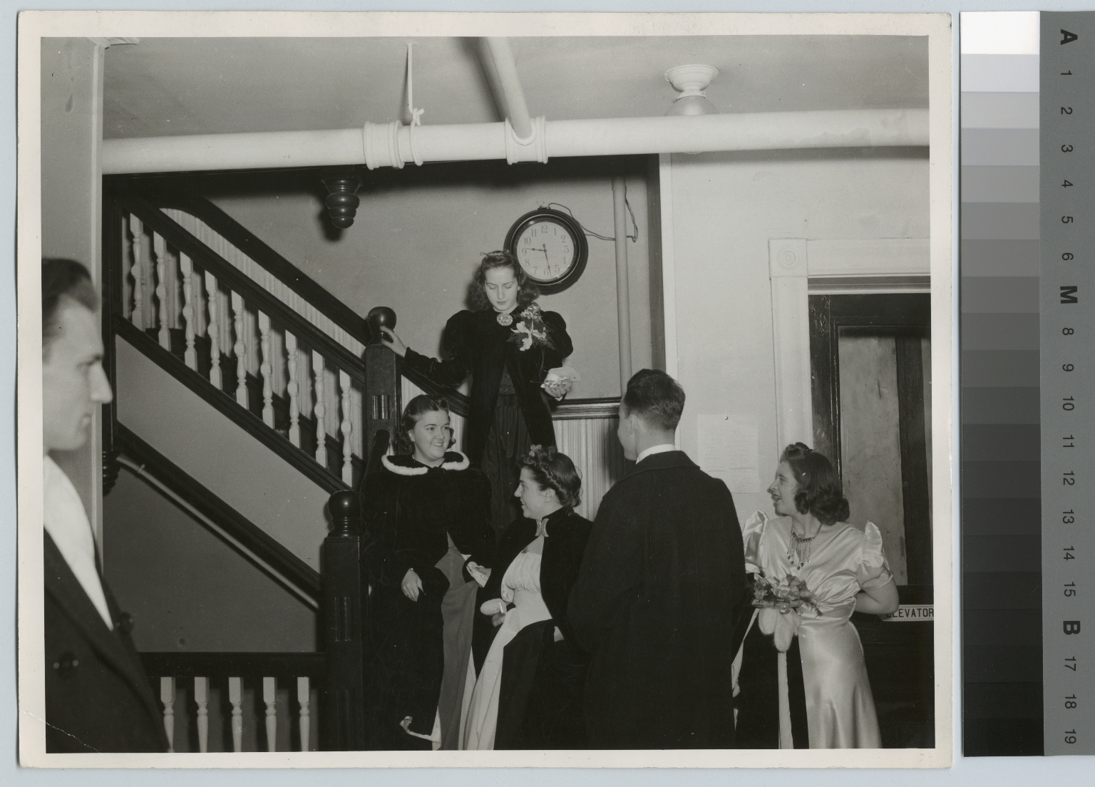 Unidentified students on prom night, Rochester Institute of Technology