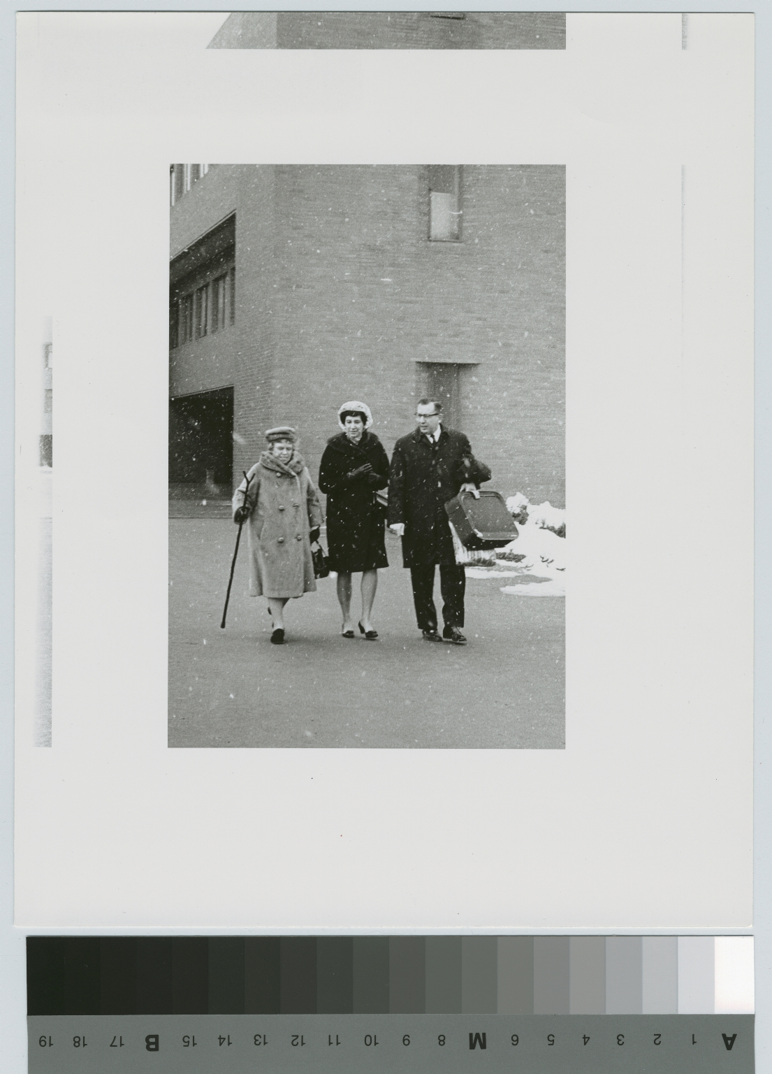 Dr. Margaret Mead with Dr. and Mrs. Paul Bernstein, Rochester Institute of Technology