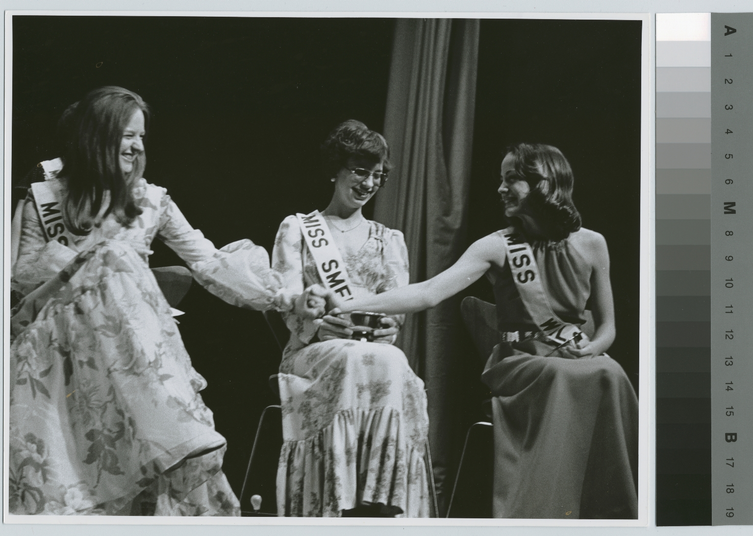 Unidentified students at beauty contest