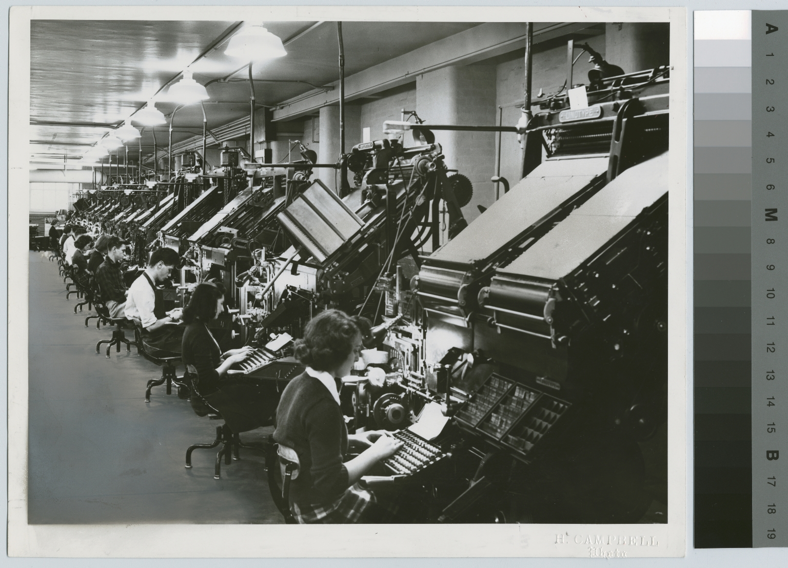 Printing class. Department of Publishing and Printing, Rochester Athenaeum and Mechanics Institute