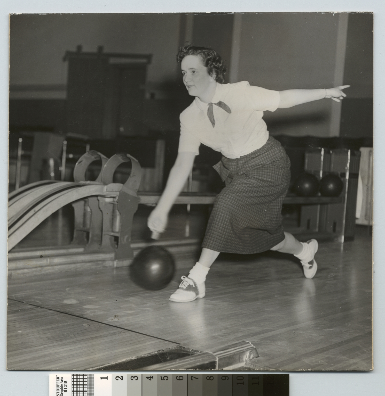 Student activities, Rochester Institute of Technology, female bowler, 1951