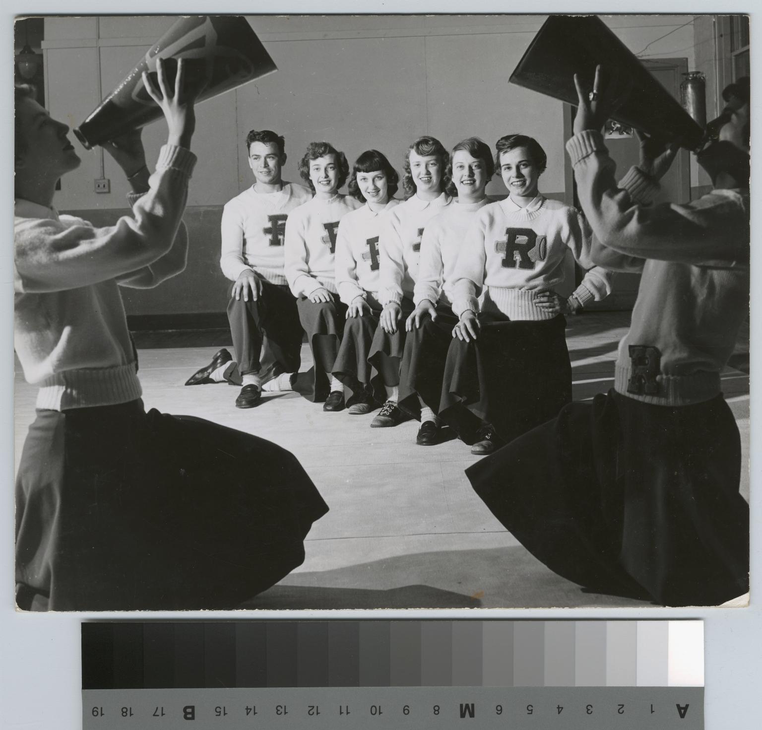 Student activities, group portrait of the RIT Cheerleaders, 1951