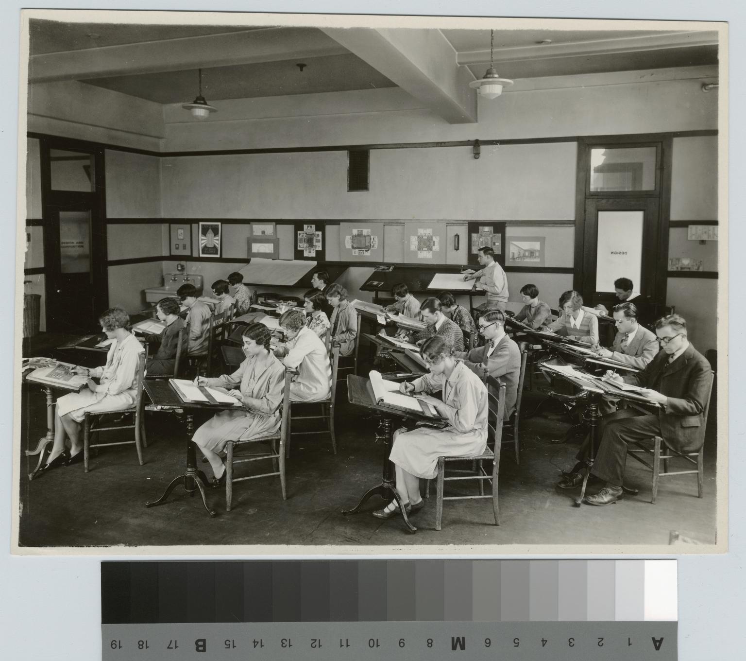Academics, design class. [1920-1930]