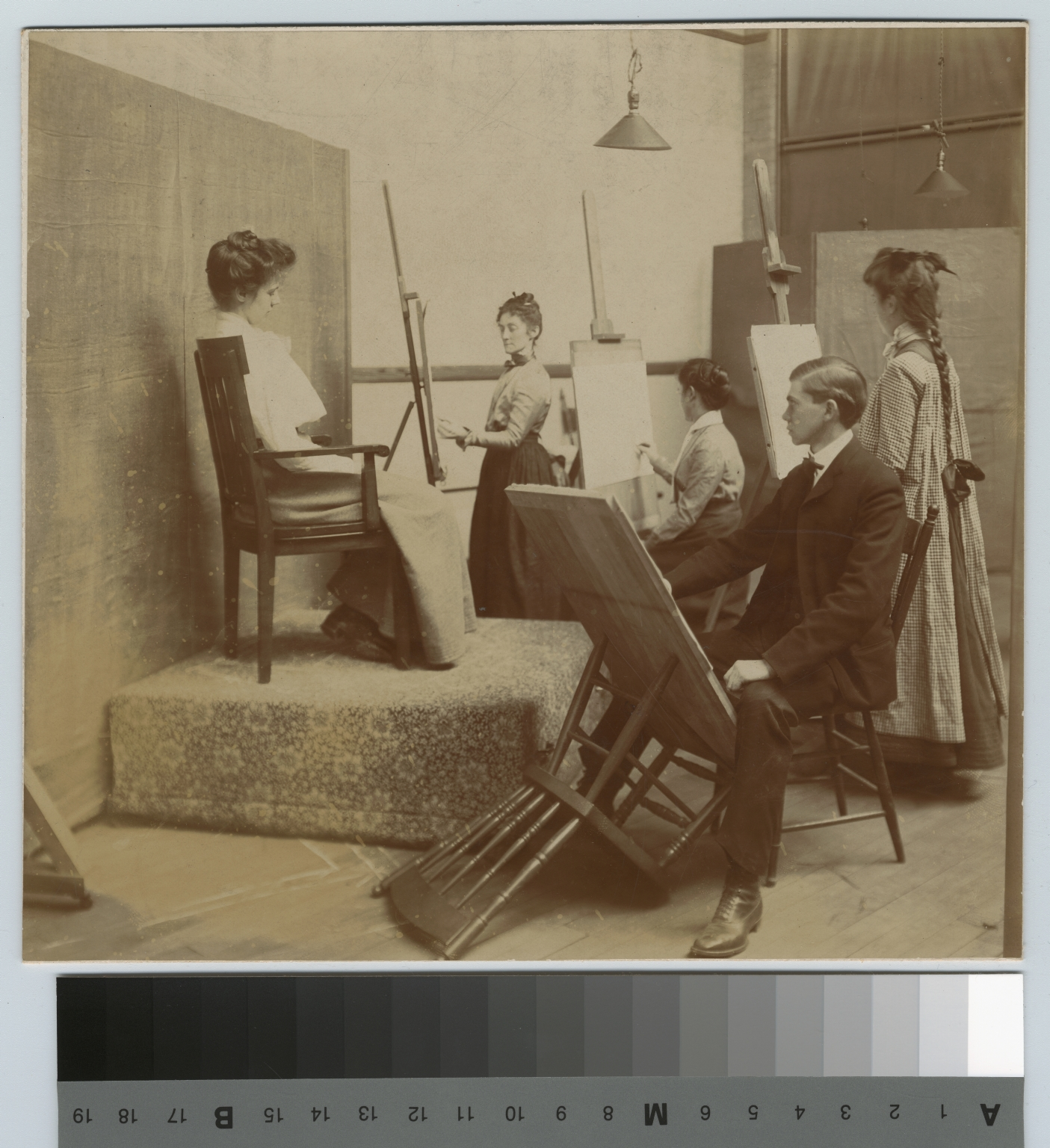 Academics, art and design, Rochester Athenaeum and Mechanics Institute life drawing class, 1891