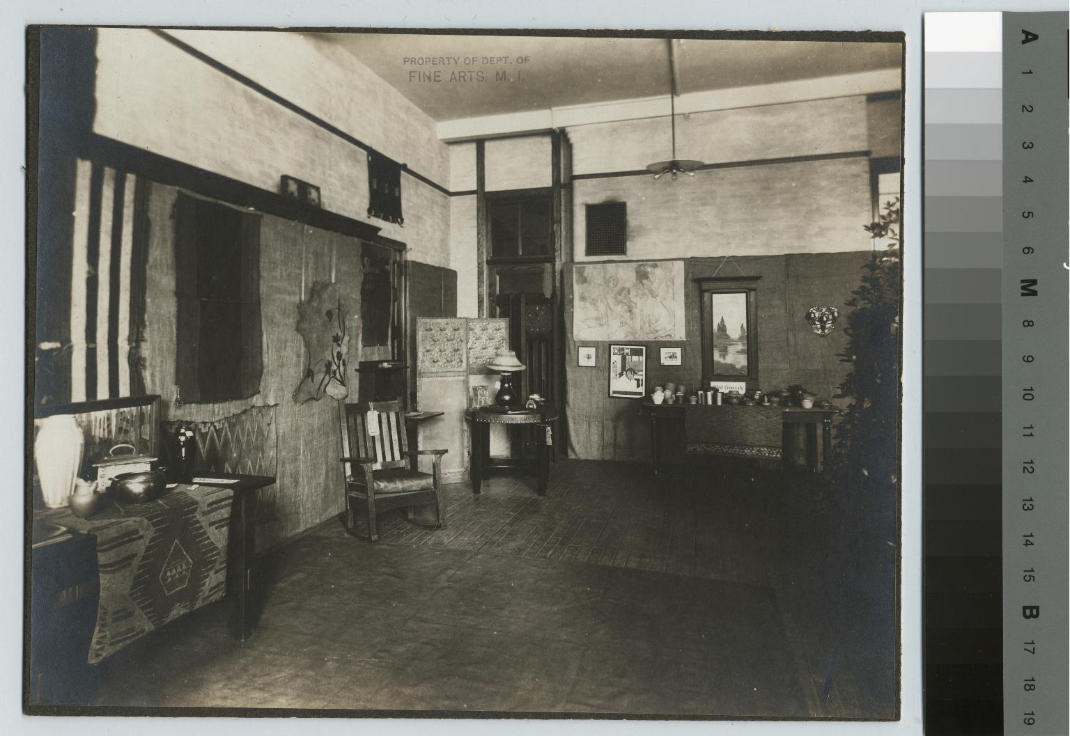 "Academics, art and design, interior view of the ""Exhibition of art craftsmanship,"" 1903"