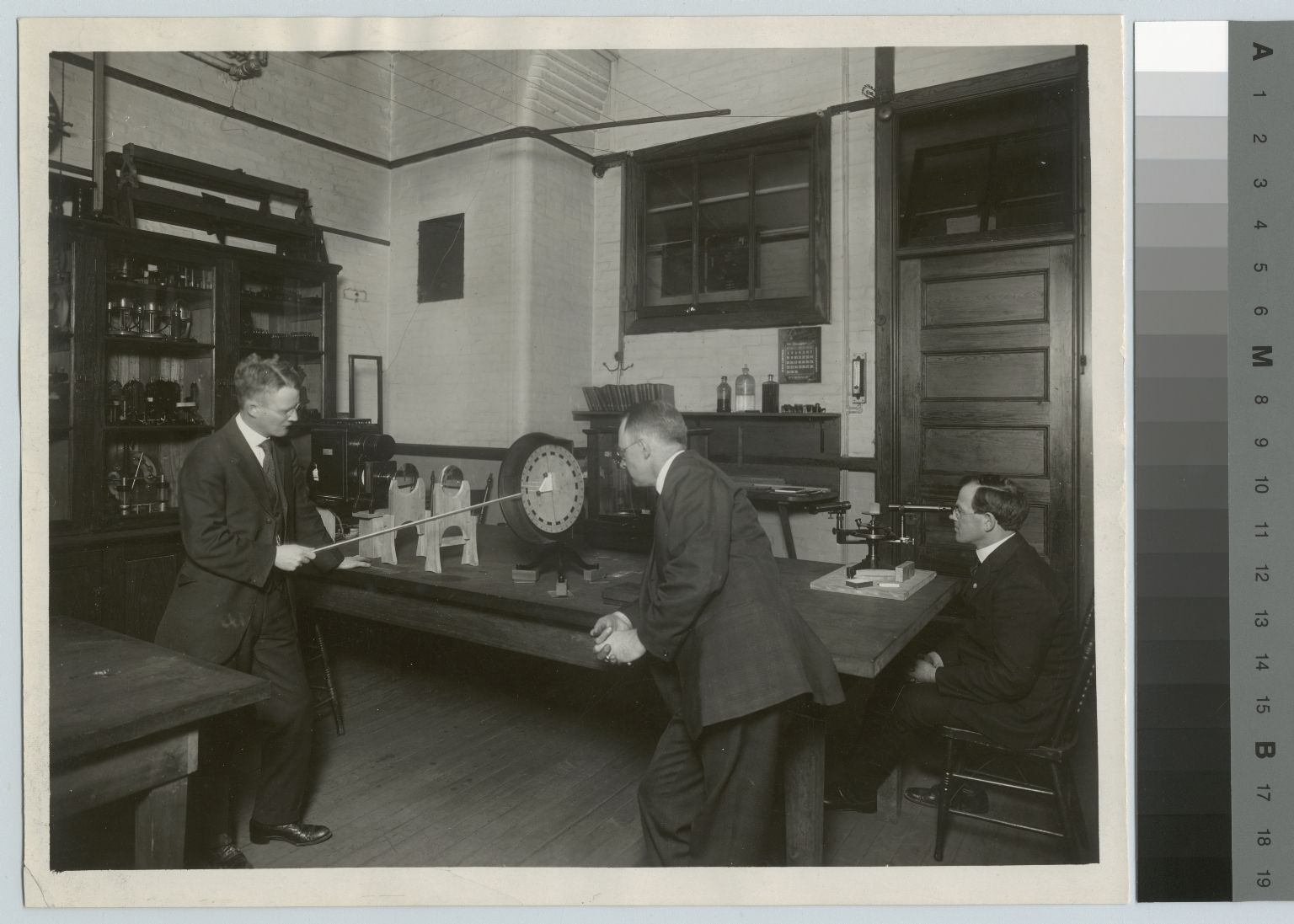 Academics, Chemistry, Interior view of the quantitative laboratory at the Rochester Athenaeum and Mechanics Institute, [1929]