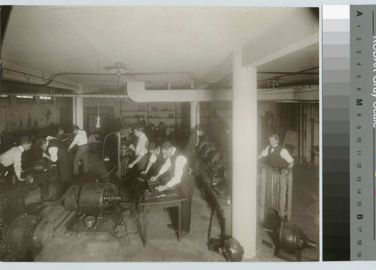Students working, Electrical Department, Rochester Athenaeum and Mechanics Institute