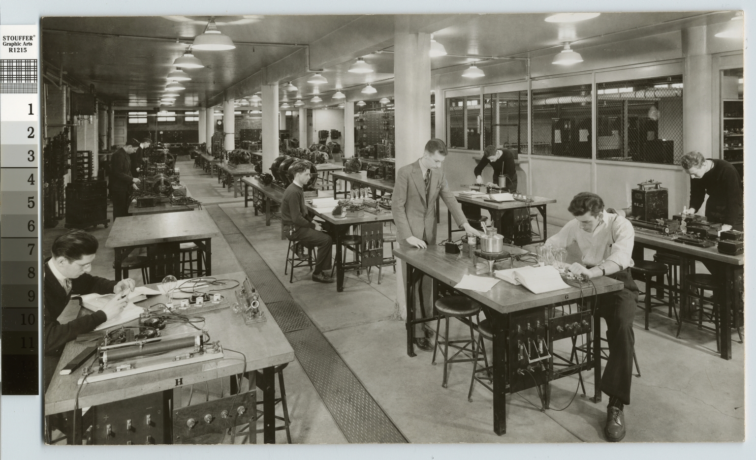 Students studying electricty, Electrical Department, Rochester Institute of Technology [1950-1960]