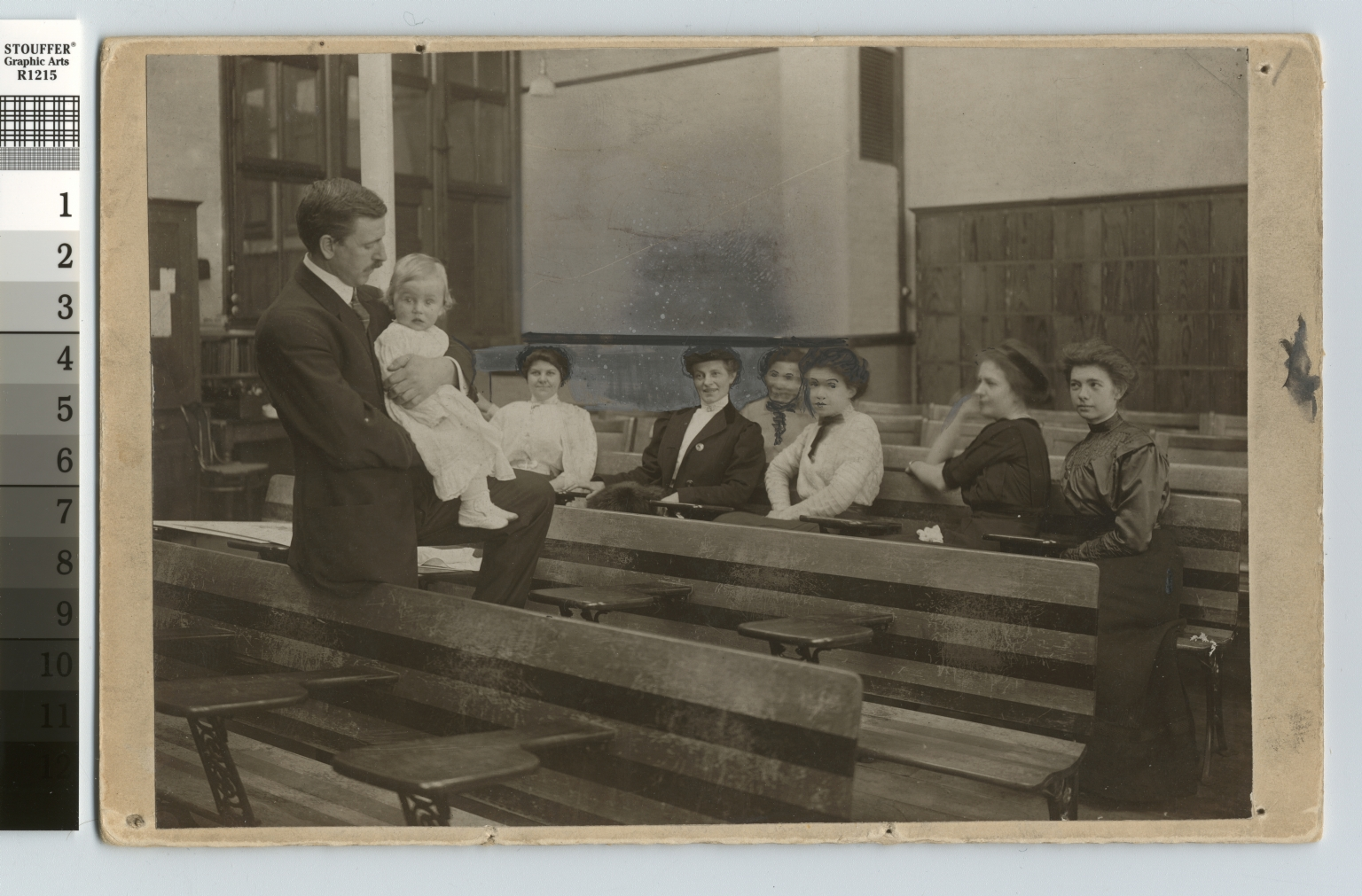 Lesson in baby holding, Rochester Athenaeum and Mechanics Institute