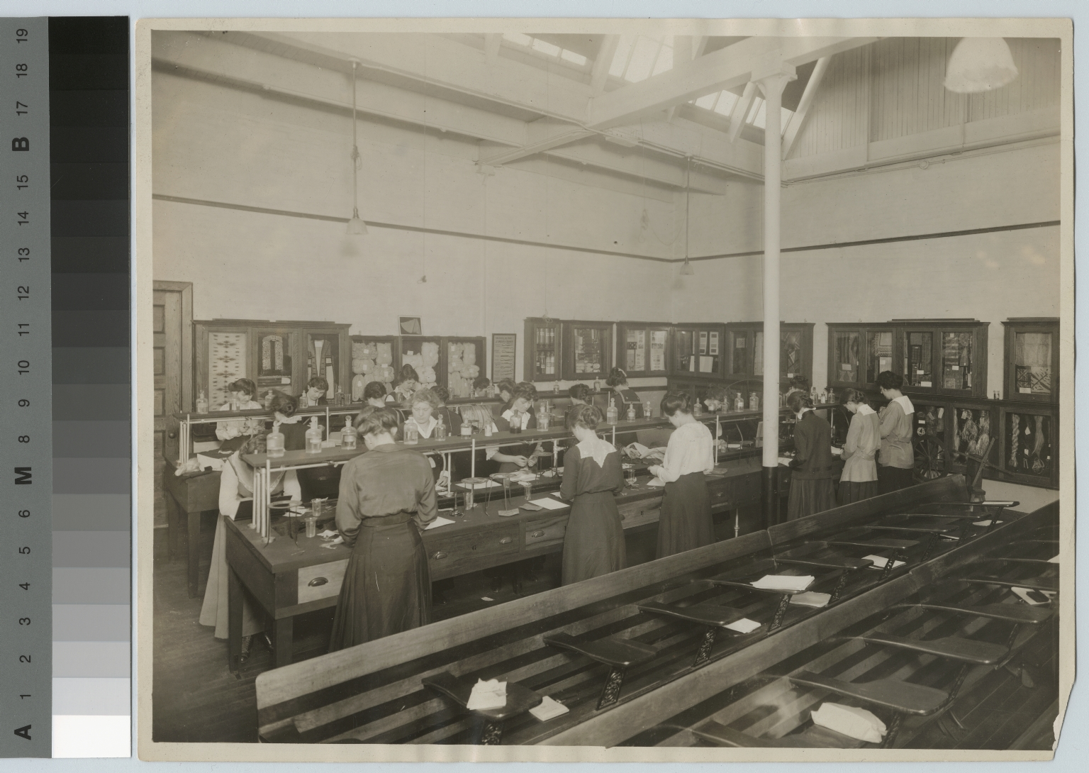 Women in textile laboratory, Department of Domestic Science and Art, Rochester Athenaeum and Mechanics Institute. [1910-1920]