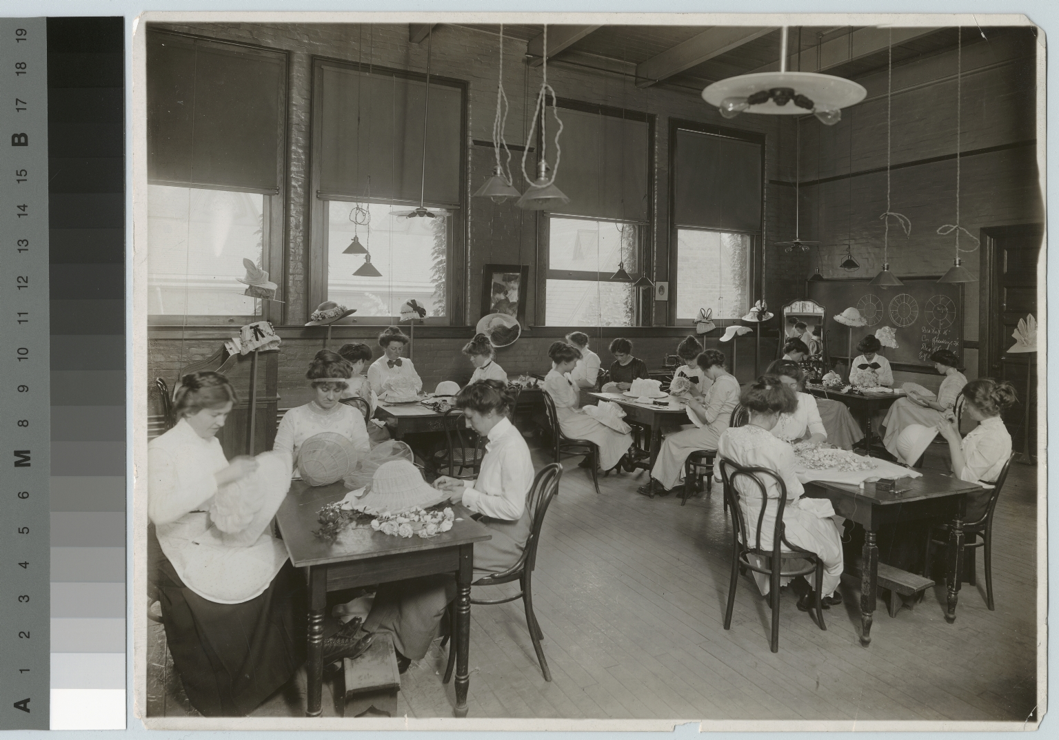 Millinery class, Department of Domestic Science and Art, Rochester Athenaeum and Mechanics Institute [1900-1915]