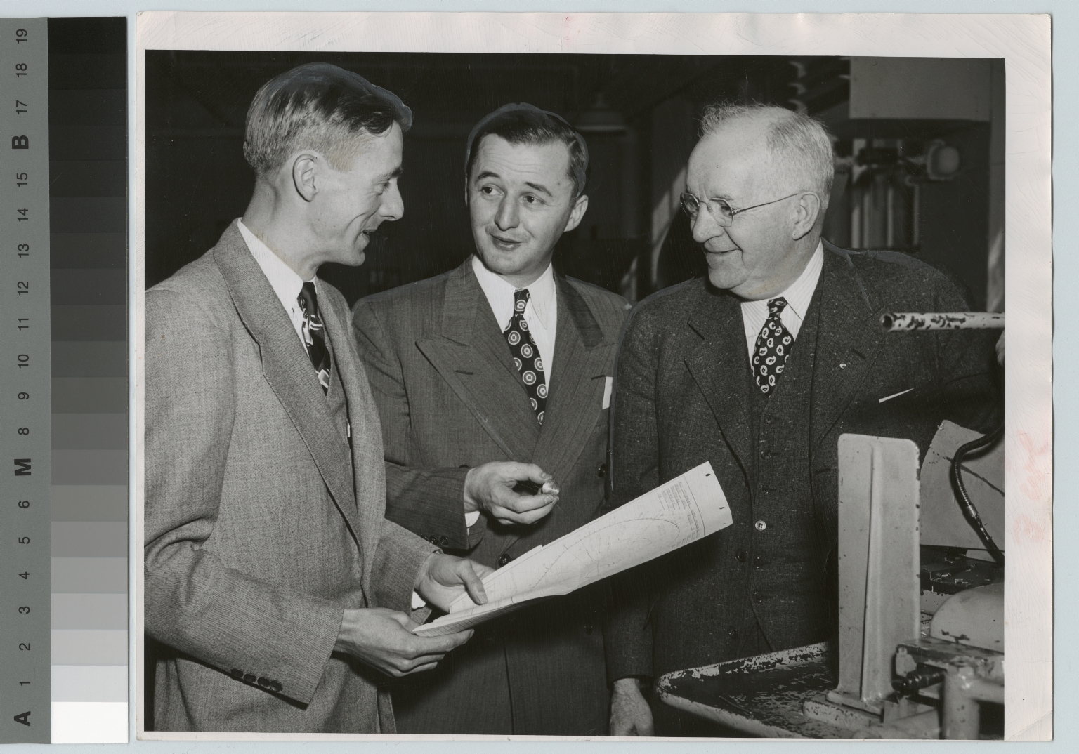 Donald K. Smith with Alfred L. Davis and Jessie T. George, Rochester Institute of Technology