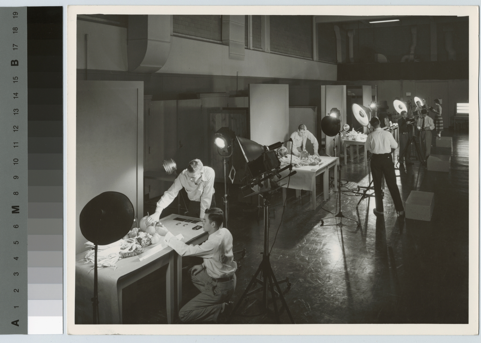 Students work on studio assignment, Department of Photographic Technology, Rochester Institute of Technology