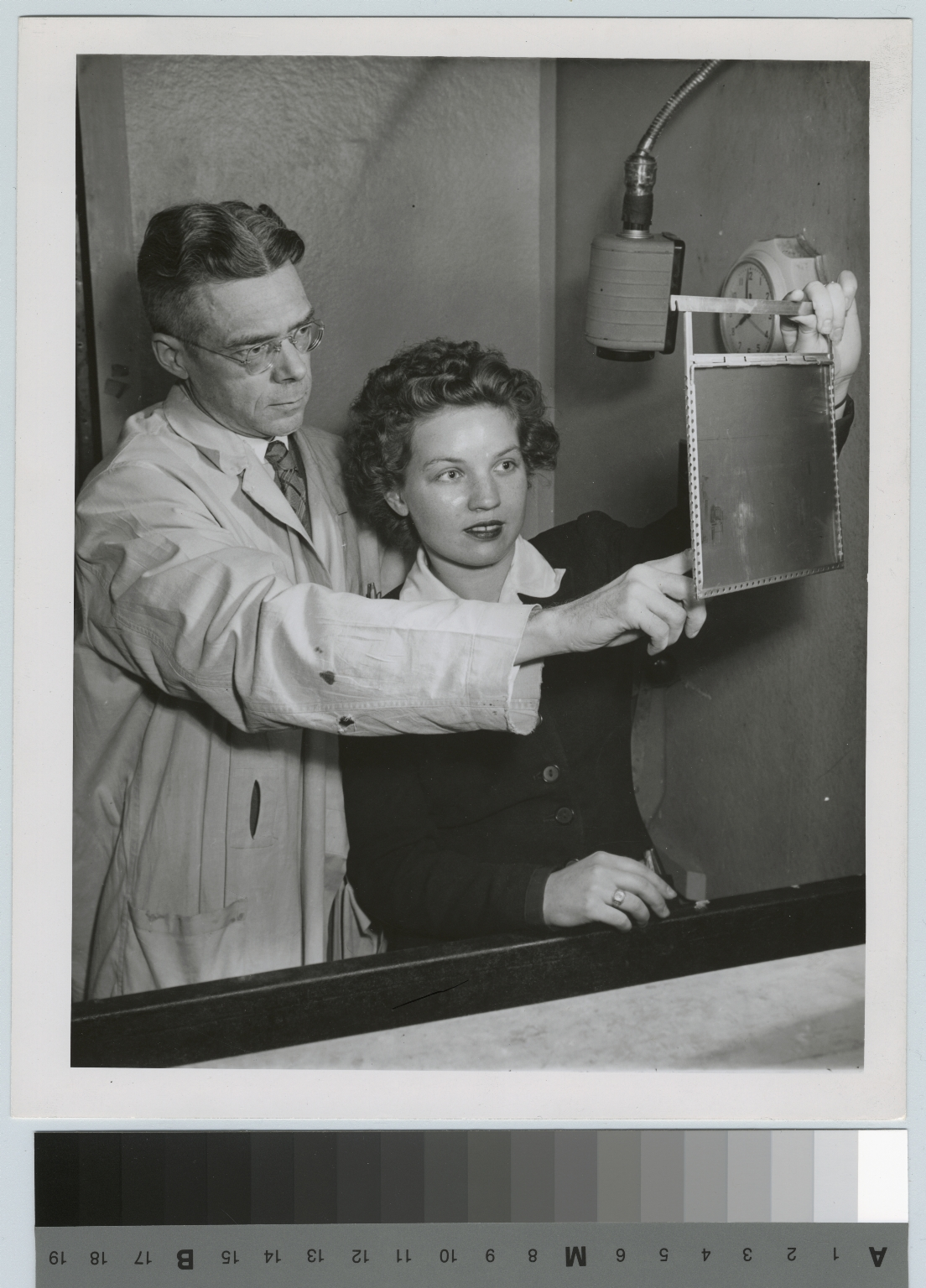 Carrol Neblette instructs student in the Department of Photographic Technology, Rochester Institute of Technology