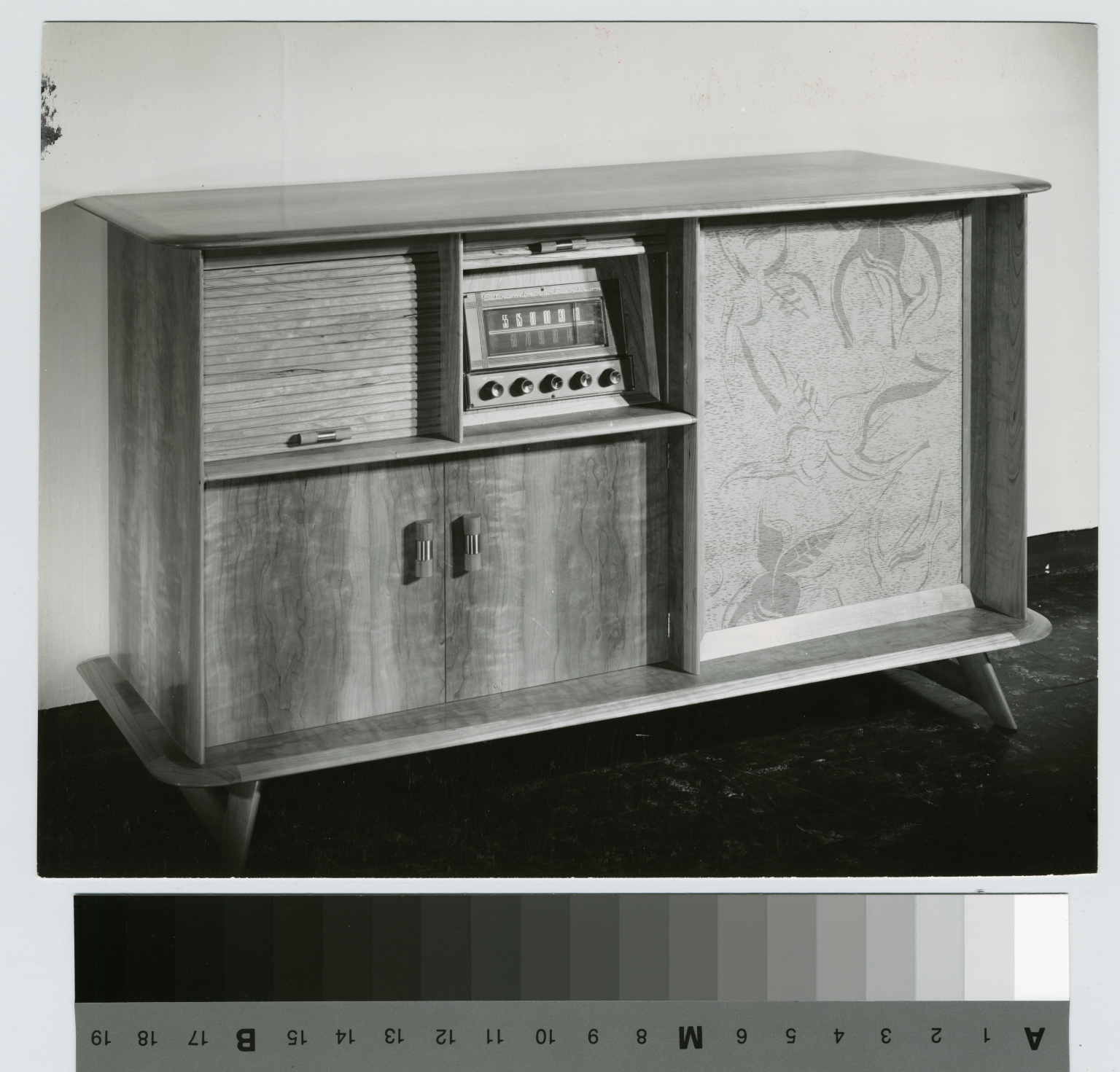 Wooden stereo cabinet, School for American Craftsmen, Rochester Institute of Technology