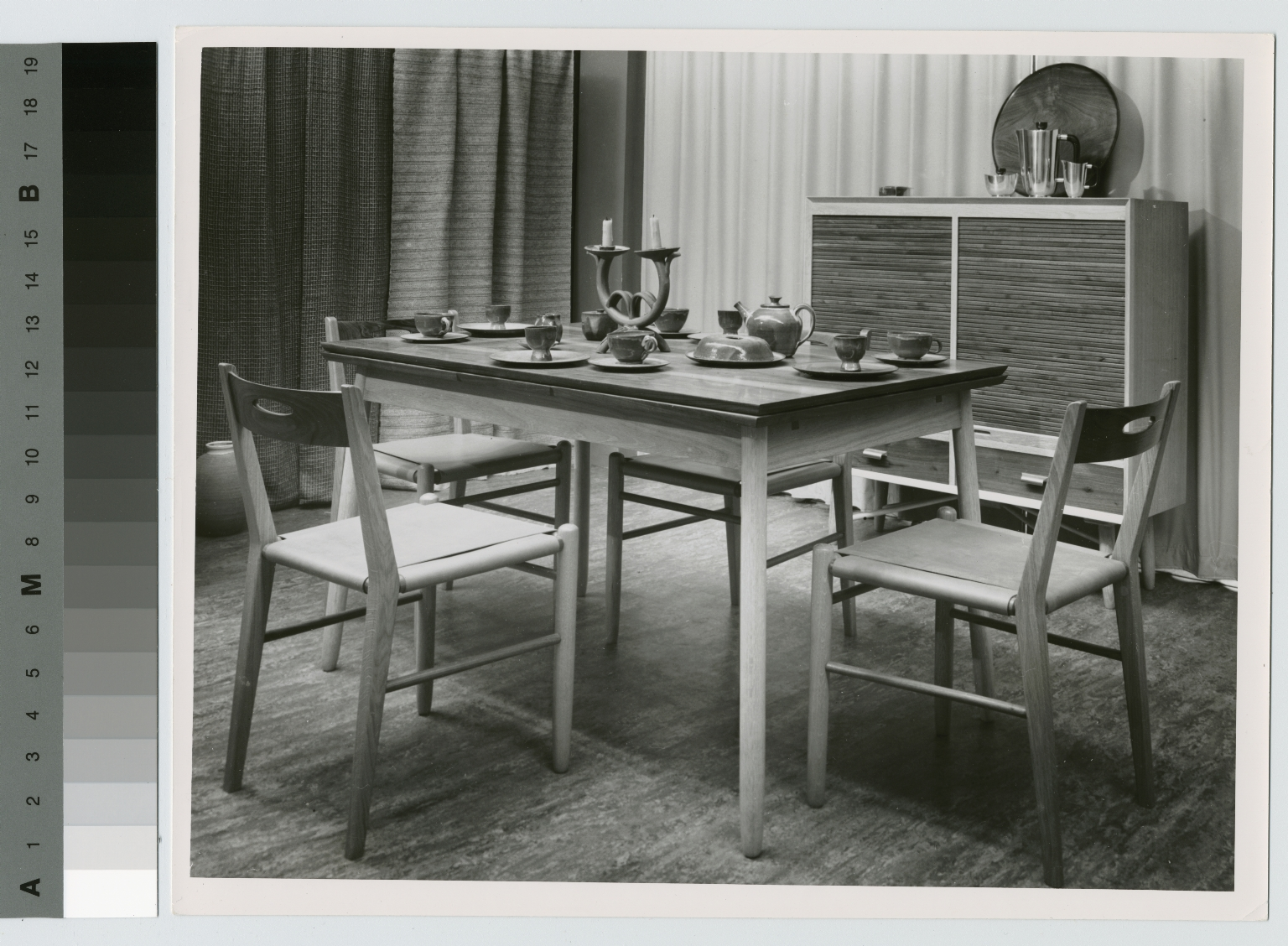 Kitchen table, chairs and sideboard, School for American Craftsmen, Rochester Institute of Technology