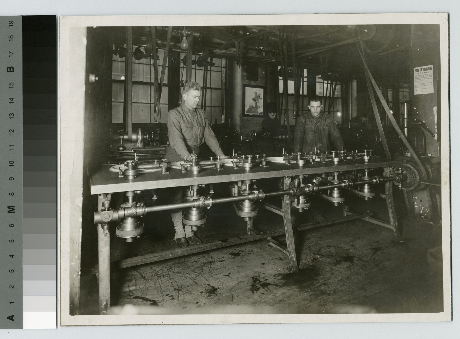 Students at lens grinding machines, Rochester Athenaeum and Mechanics Institute