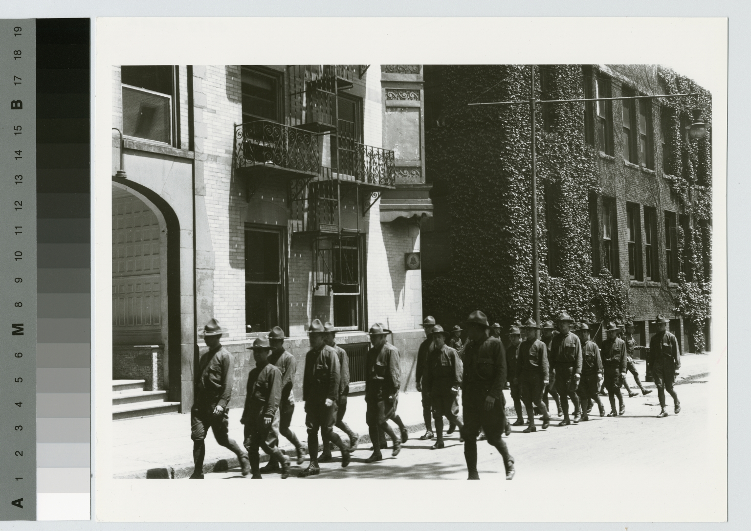 World War I soldiers on Spring Street, Rochester Athenaeum and Mechanics Institute