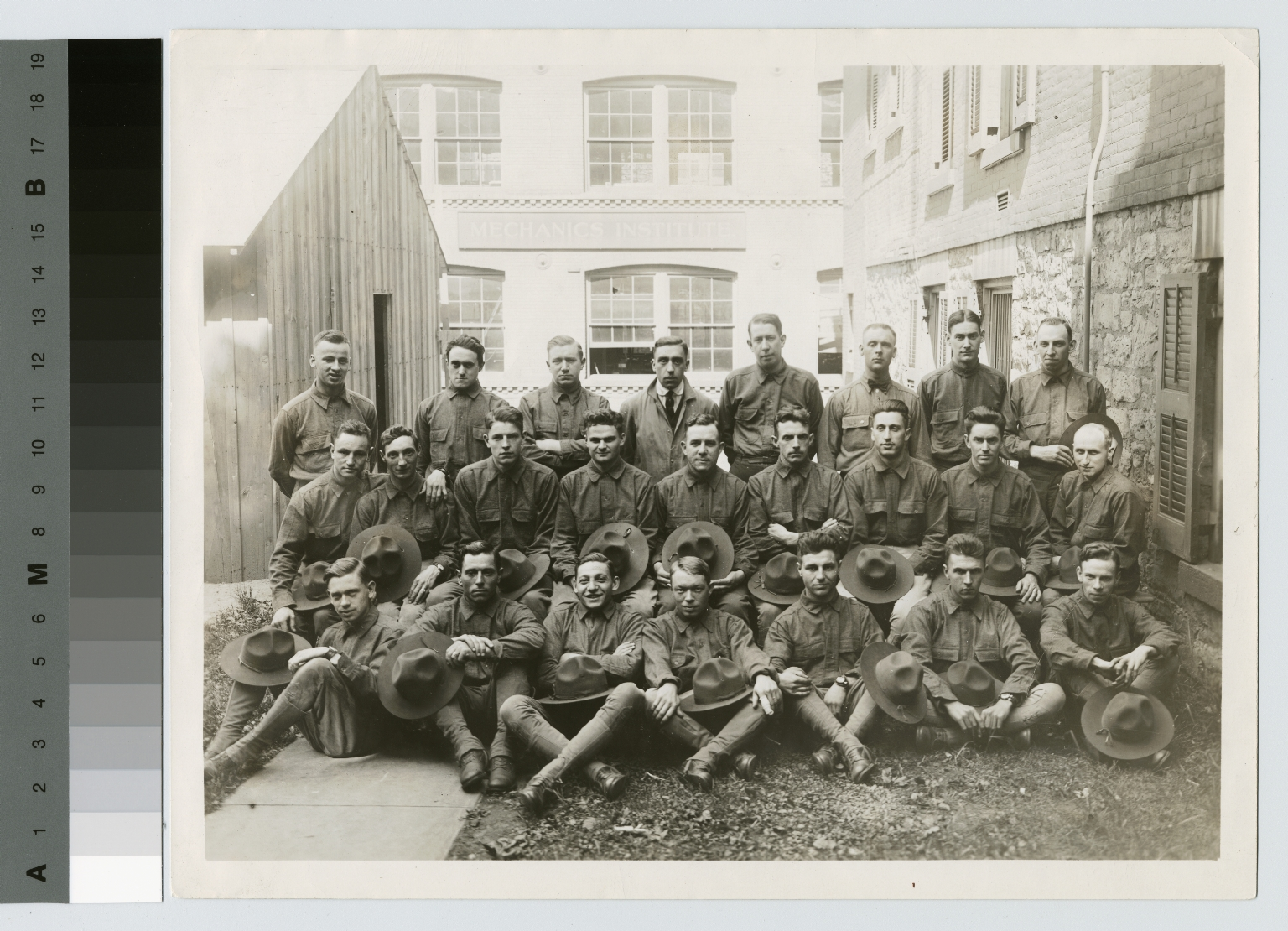 Portrait of World War I soldiers, Rochester Athenaeum and Mechanics Institute