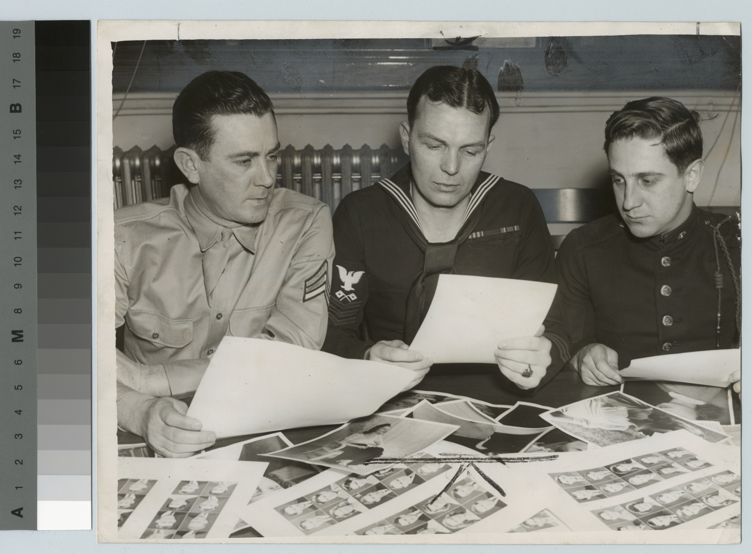 "Student soldiers selecting ""Miss V"", Rochester Athenaeum and Mechanics Institute"