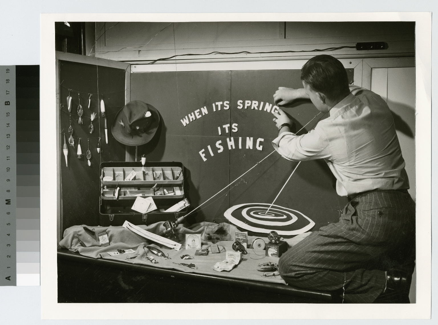 Academics, student preparing a display, Retailing Department, Rochester Institute of Technology