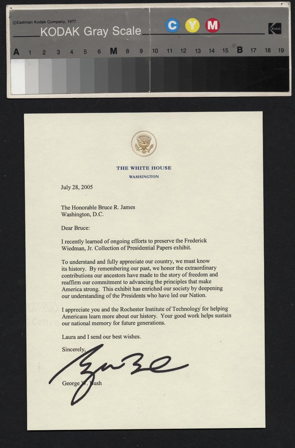 George W. Bush letter
