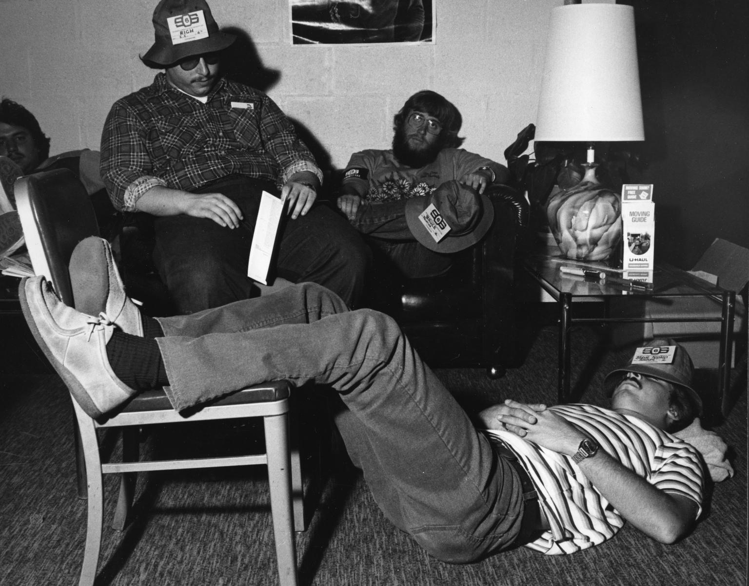 Student Orientation, SOS Committee Members Relaxing