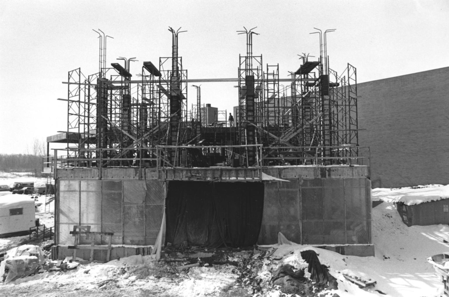 Ground View of the Construction of the Kilian J. and Caroline F. Schmitt Interfaith Center