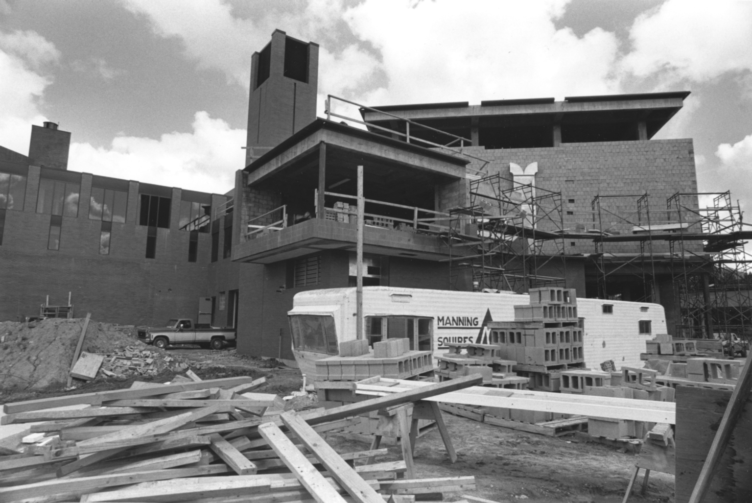 Construction of Kilian J. and Caroline F. Schmitt Interfaith Center