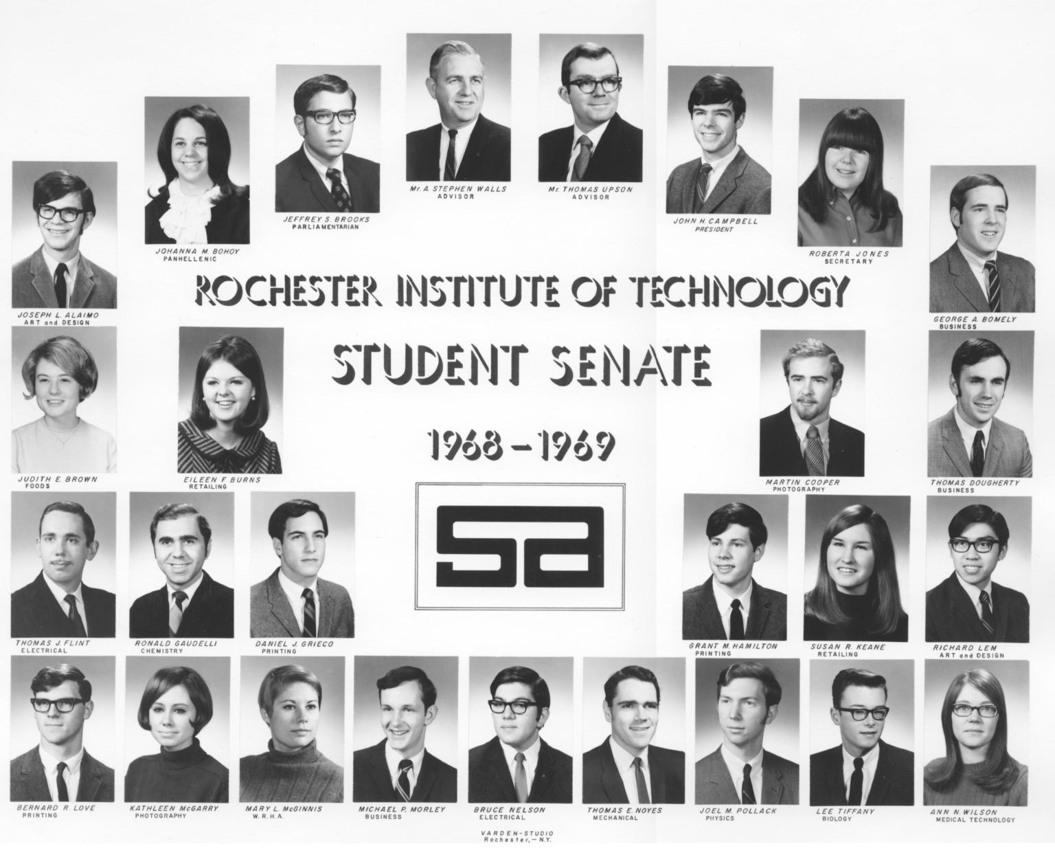 1968-1969 SA Student Senate