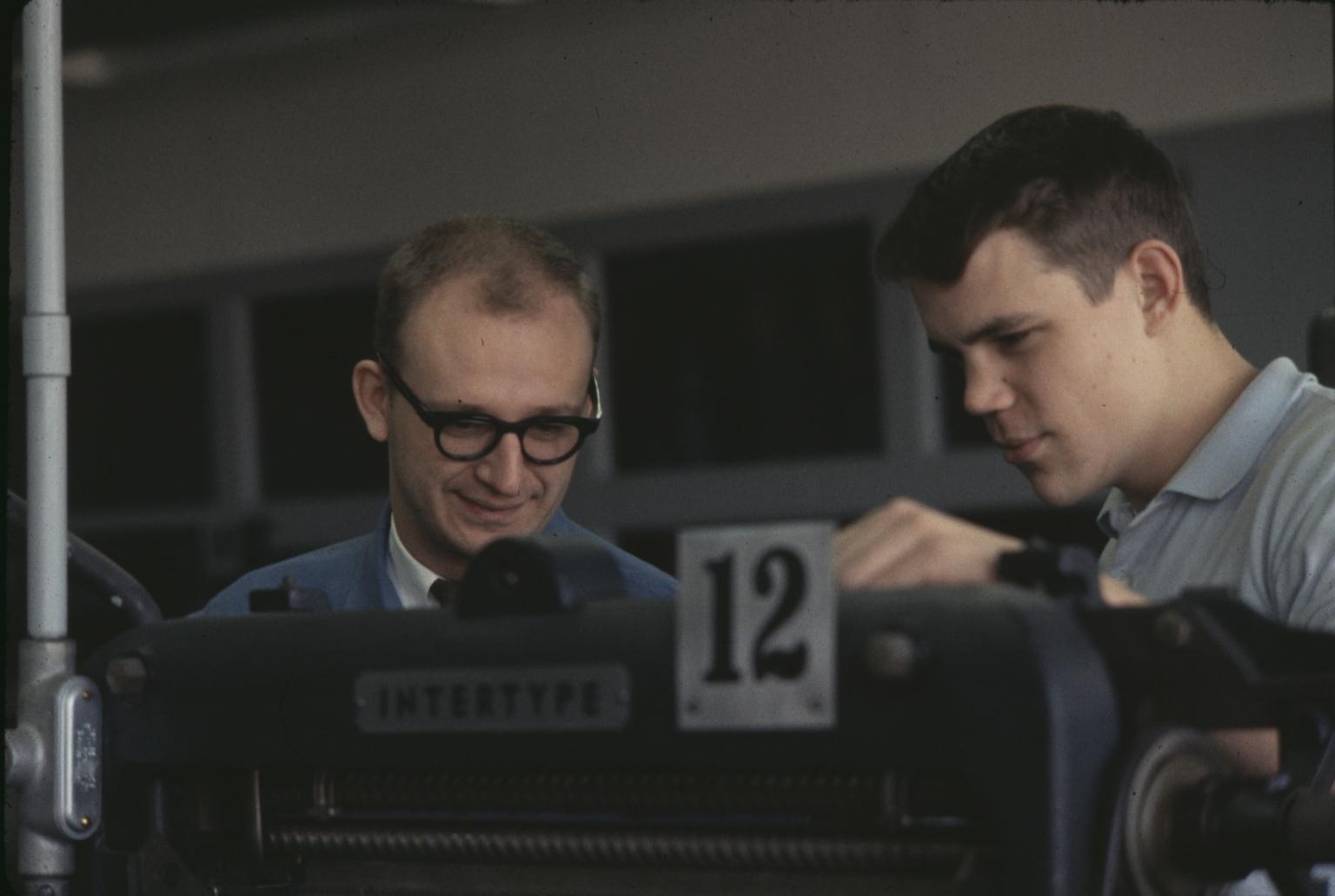 Students and Intertype Machine