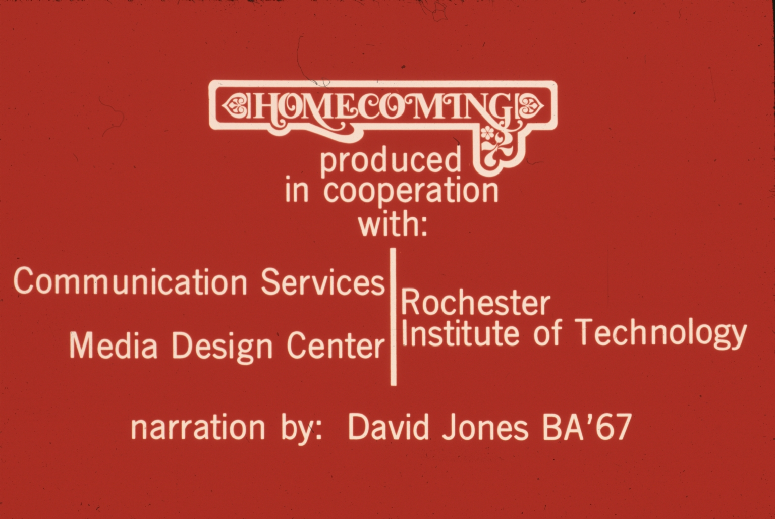 Homecoming Production Slide