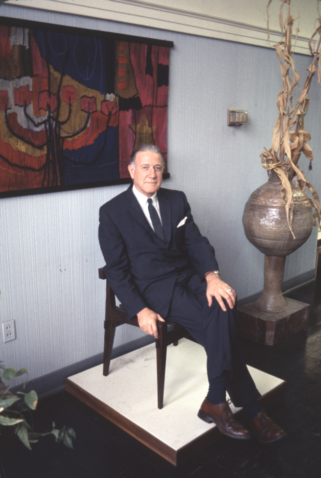 Harold Brennan at Art Exhibit