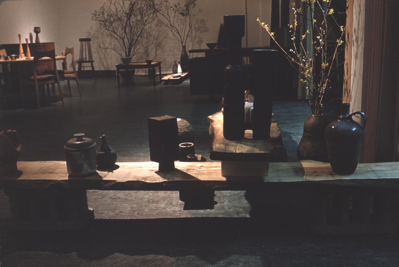 Exhibition of ceramic pieces and furniture