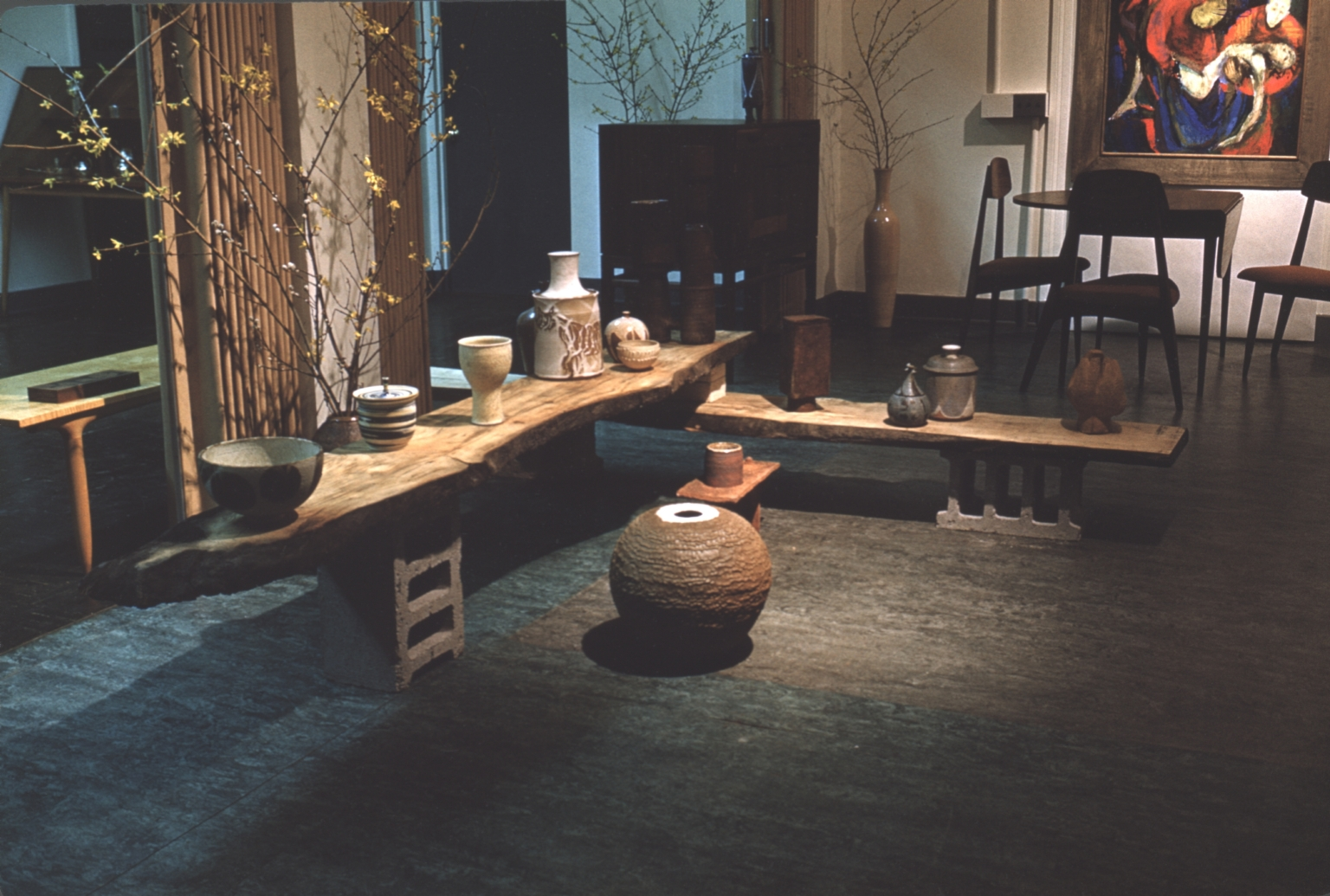 Exhibition of furniture and ceramics
