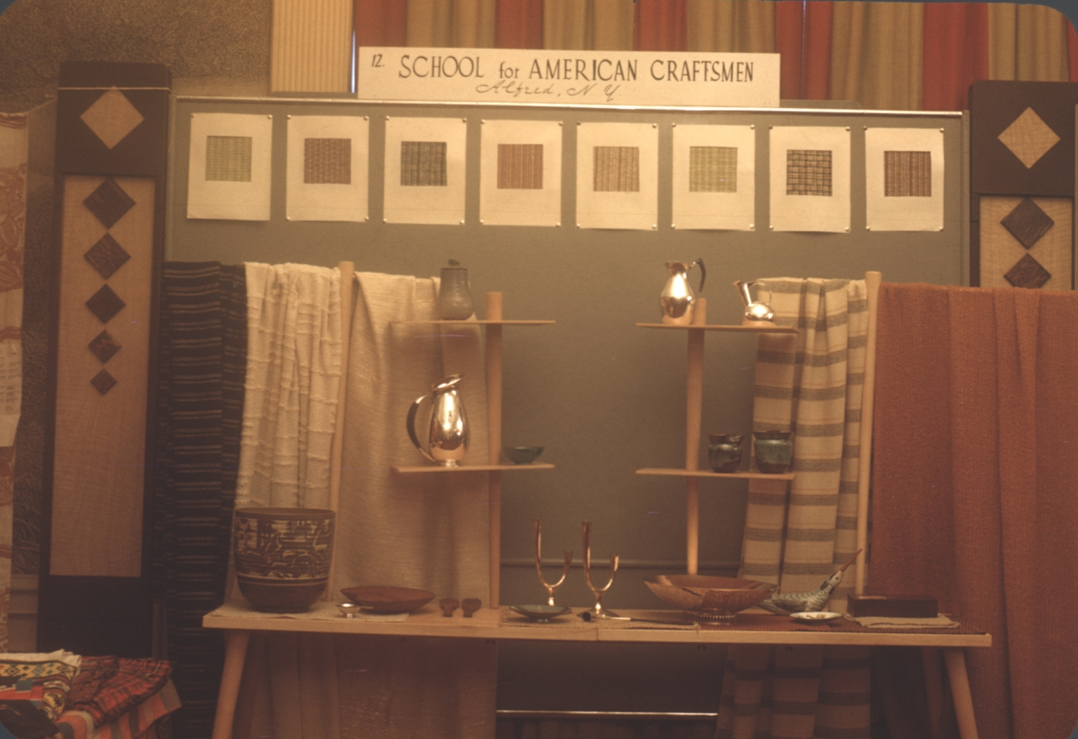 Exhibition of fabrics, ceramics and metal works