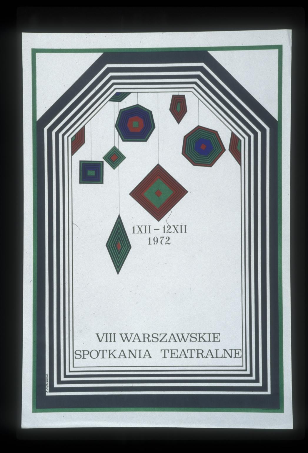 VIII Warszawskie spotkania teatralne, 1XII-12XII1972