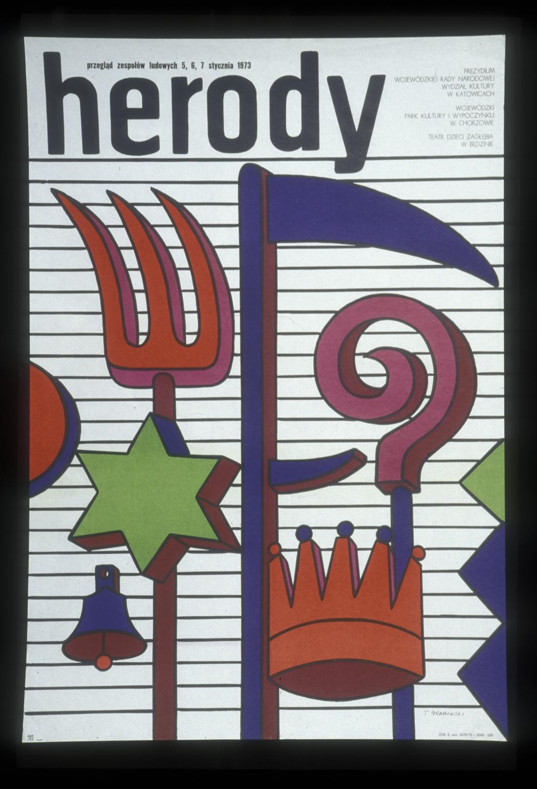 Herody: przeglad zespolow ludowych 5,6,7 stycznia 1973