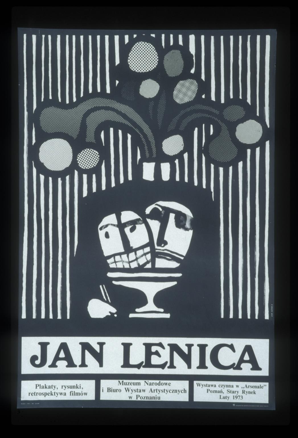 Jan Lenica: plakaty, rysunki, retrospektywa filmow : Muzeum Narodowe i Biuro Wystaw Artystycznych w Poznaniu  luty 1973