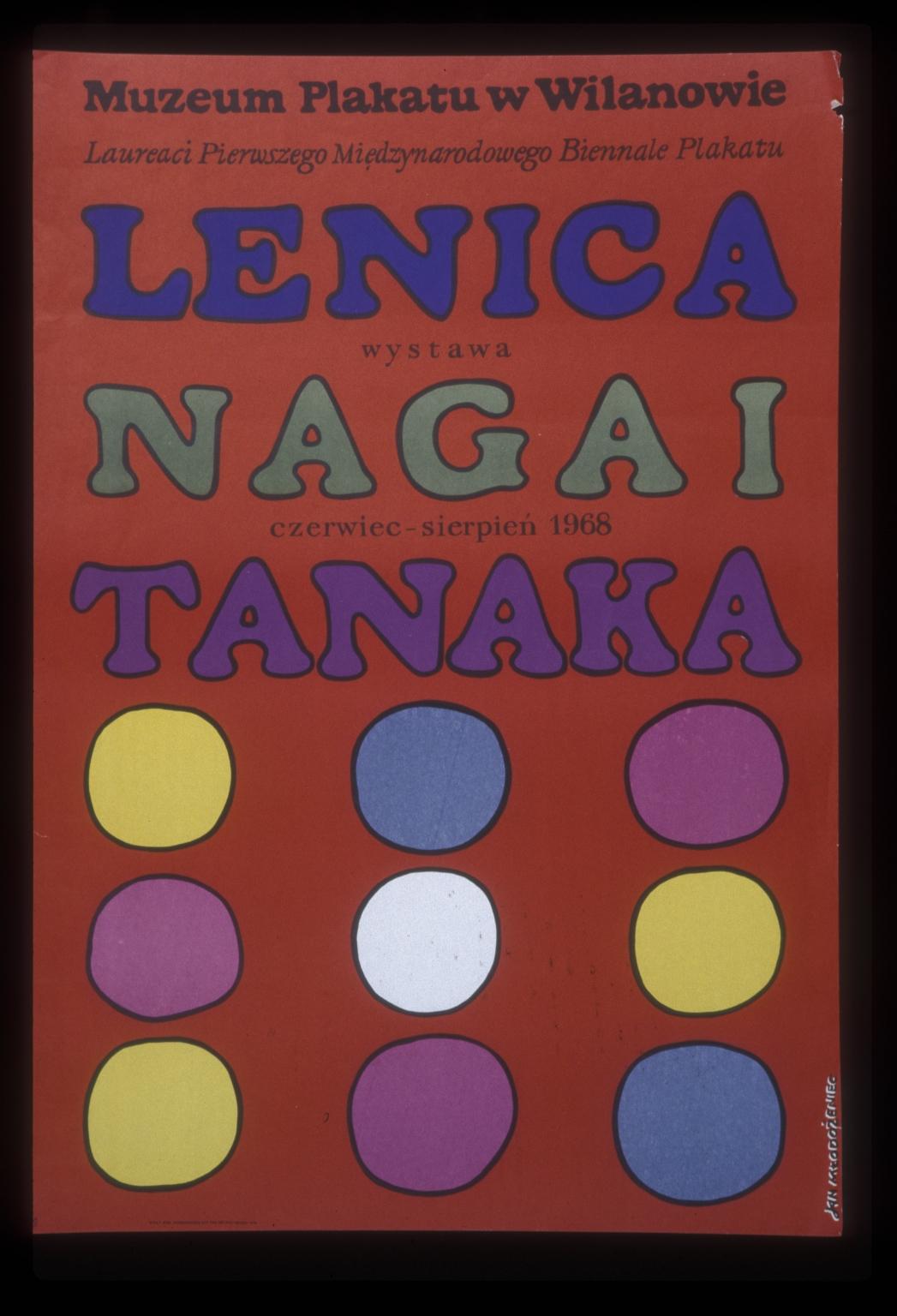 Lenica, Nagai, Tanaka: laureaci pierwszego Miedzynarodowego Biennale Plakatu : wystawa, czerwiec-sierpien1968, Muzeum Plakatu w Wilanowie