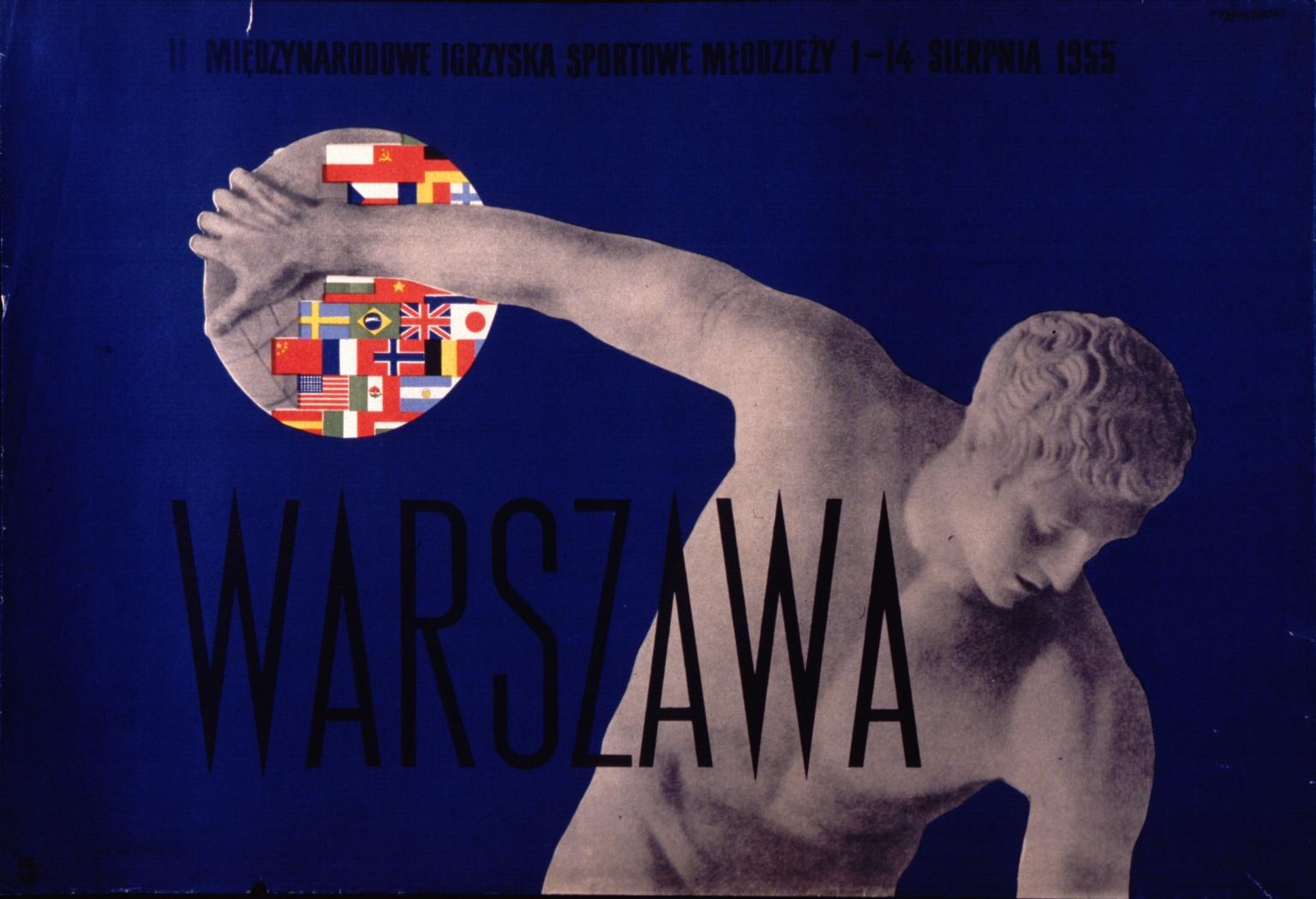 Warszawa, II Miedzynarodowe Igrzyska Sportowe MLodzezy, 1-14 sierpnia 1955