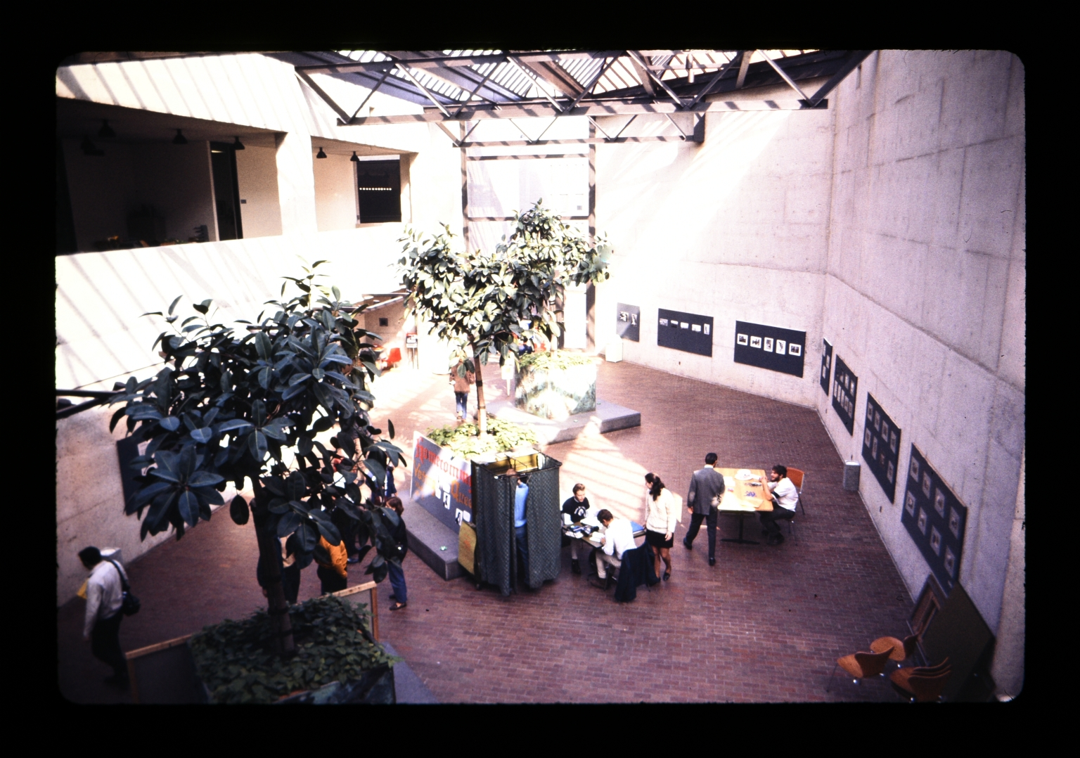 Second floor view looking down onto the Student Alumni Union lobby