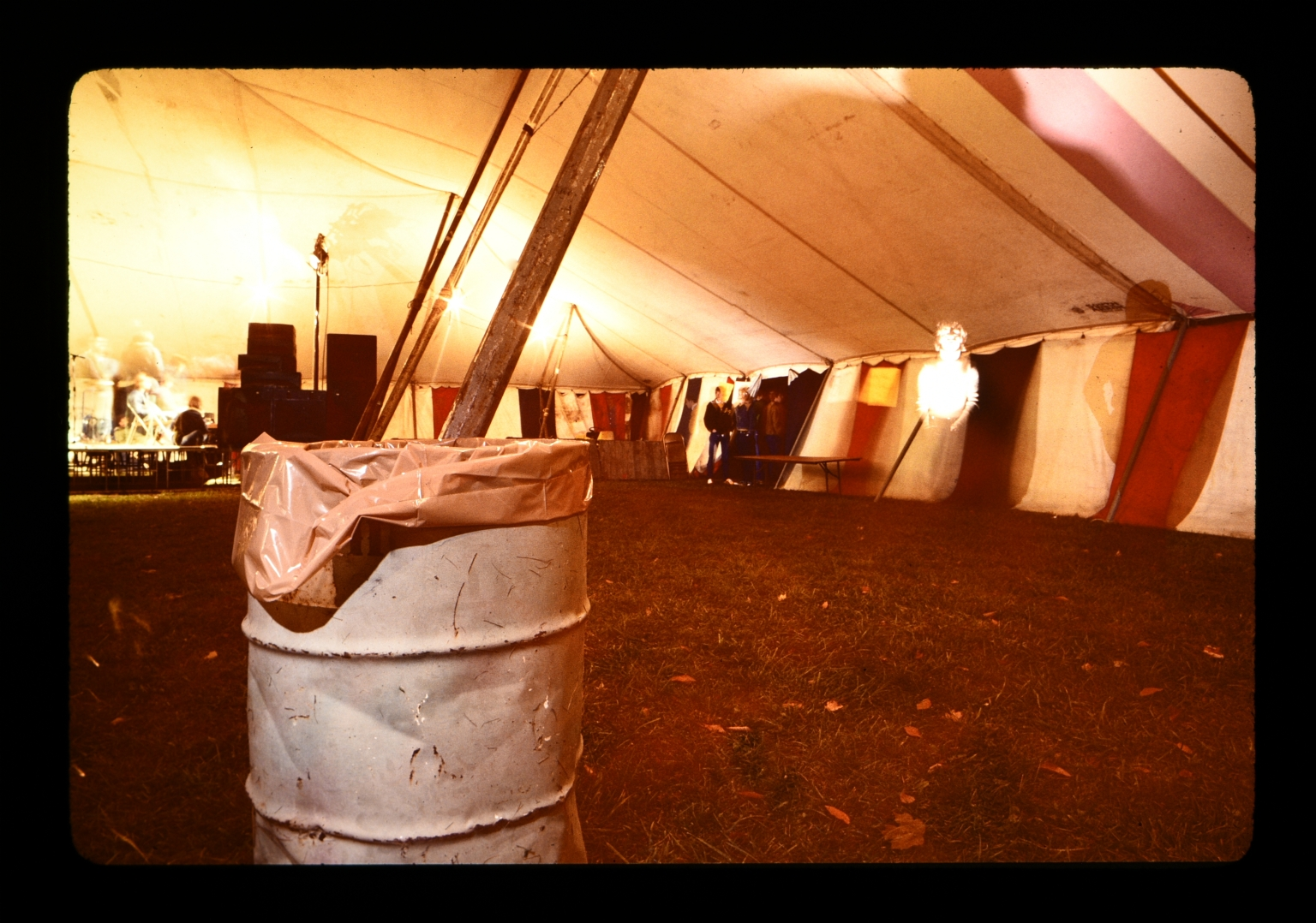Inside of event tent