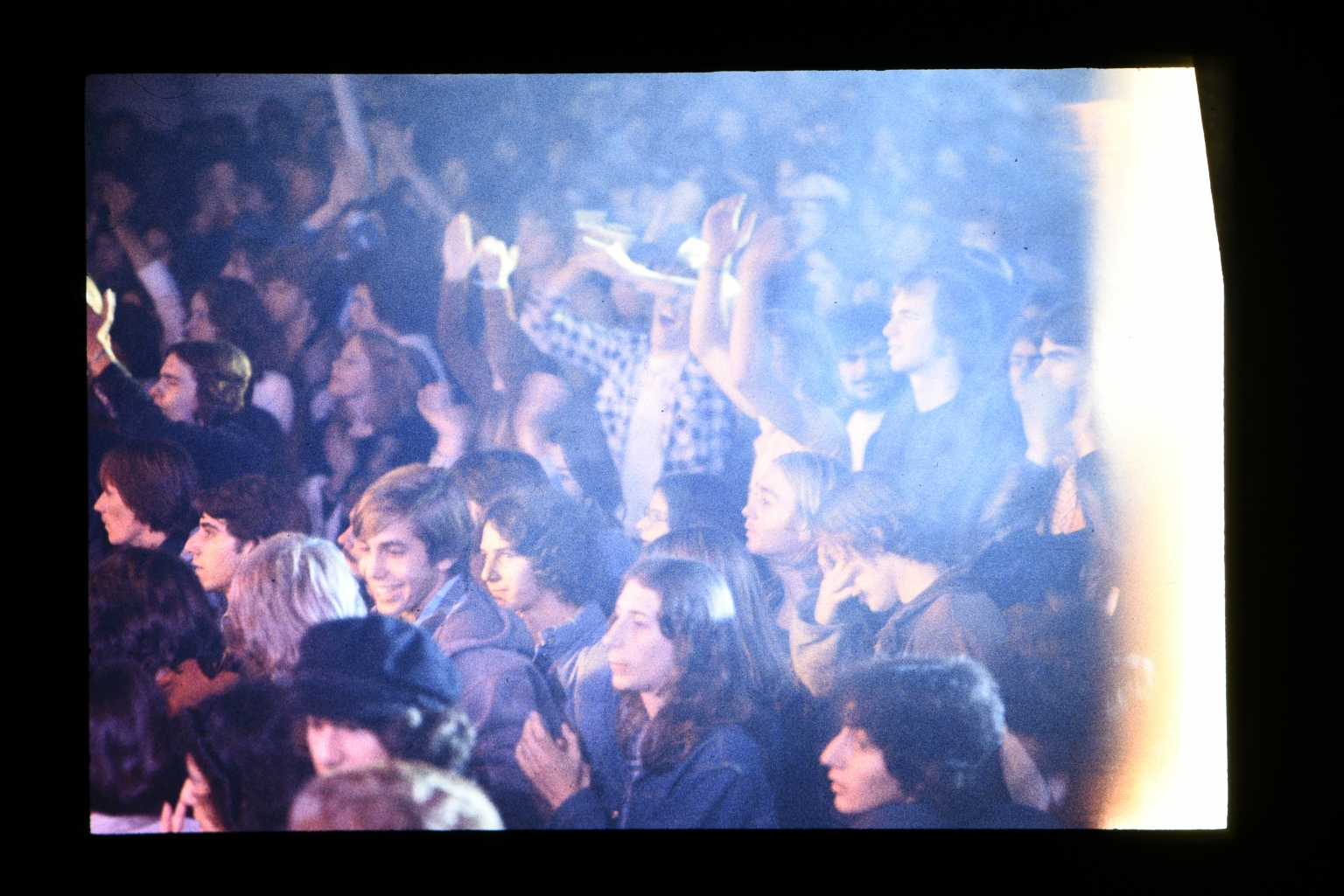 Crowd of students at a concert