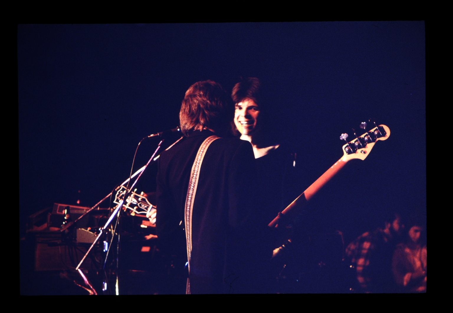 Two guitarists perform during a Don Potter concert