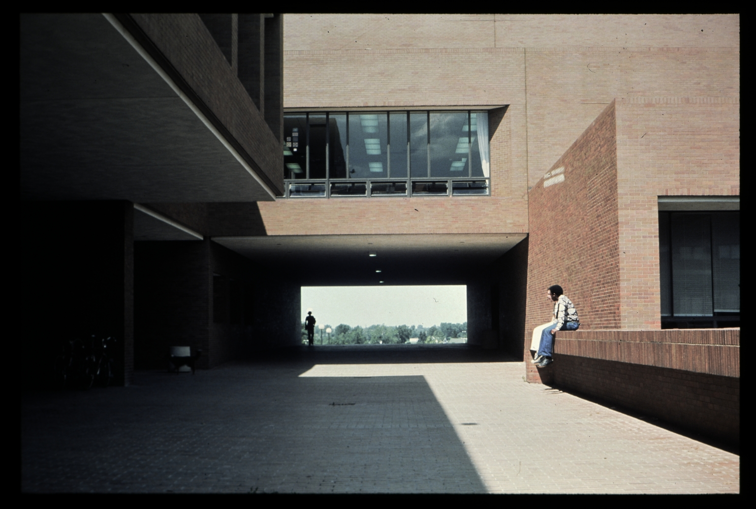 Walkway to James E. Booth Hall and Frank E. Gannett Hall
