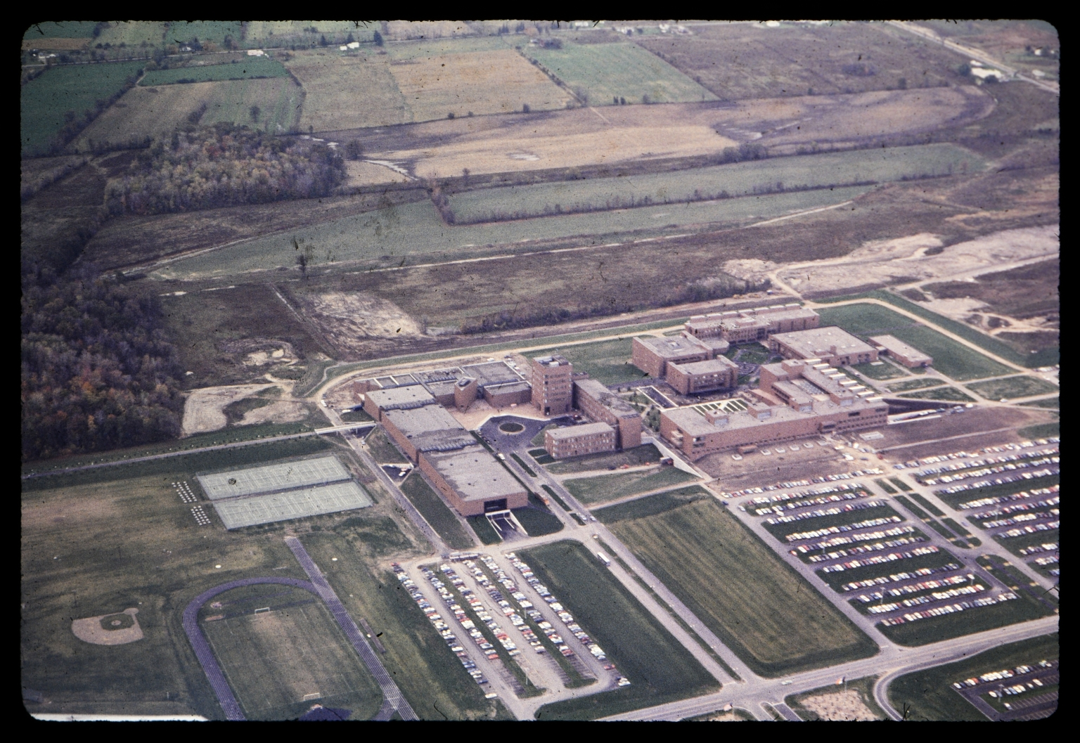 Aerial photograph of RIT campus